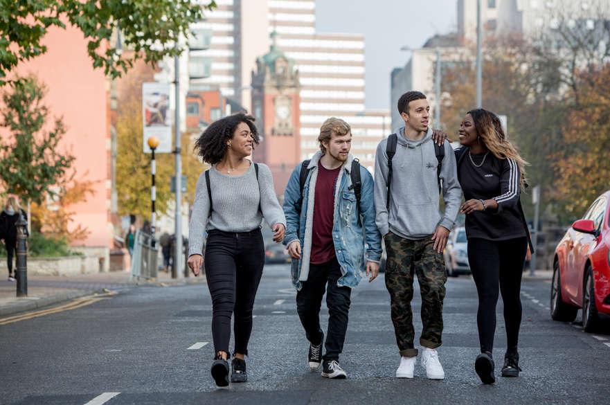 Students on Shakespeare Street