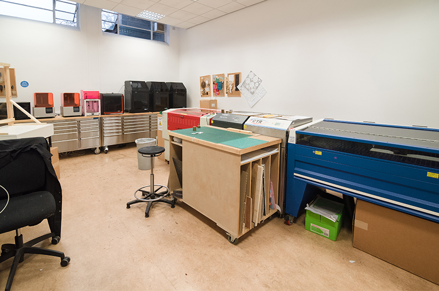 Laser Cutting and 3D Printing Room