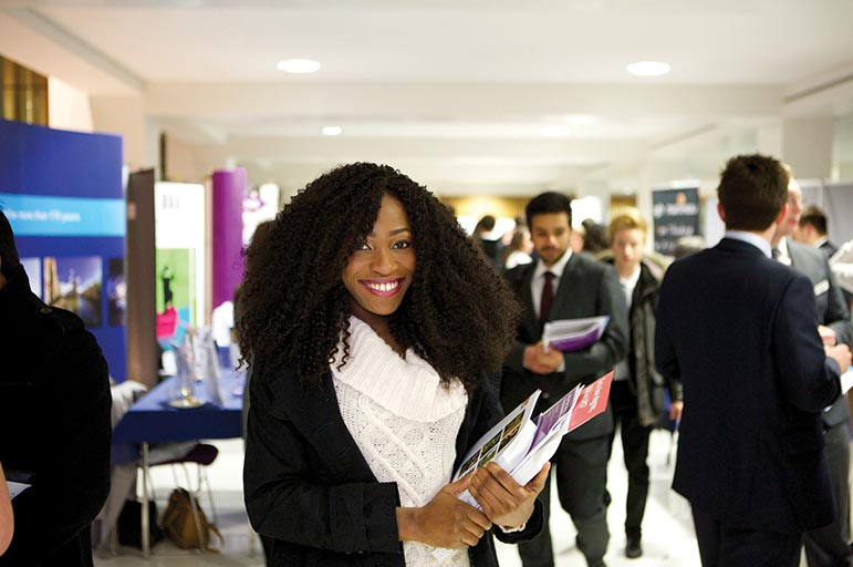 Nottingham Trent University students at open event