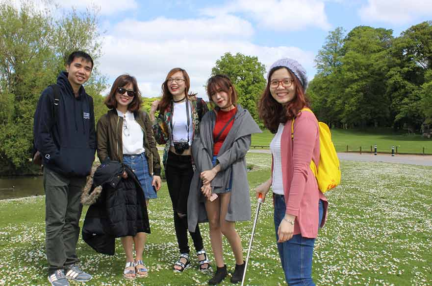 Students at Newstead Abbey