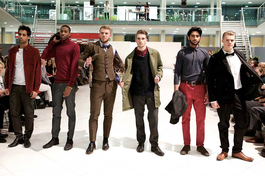 designs by NTU students modelled at catwalk show
