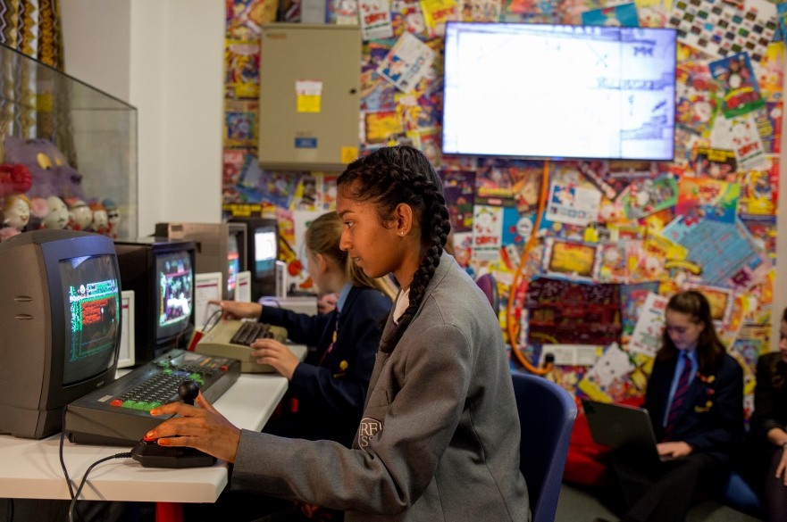 Girls at computing for schools event