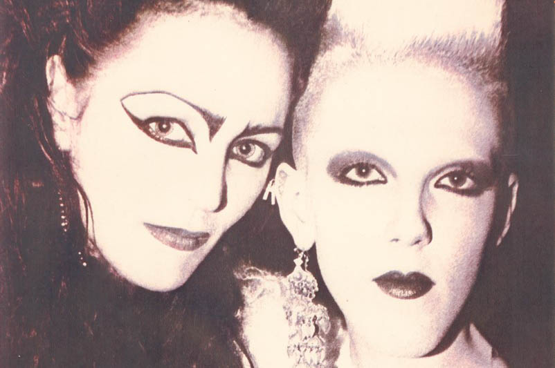 Juliana Sissons (left) and Scarlett Cannon (right) from the London club scene in the early 1980s