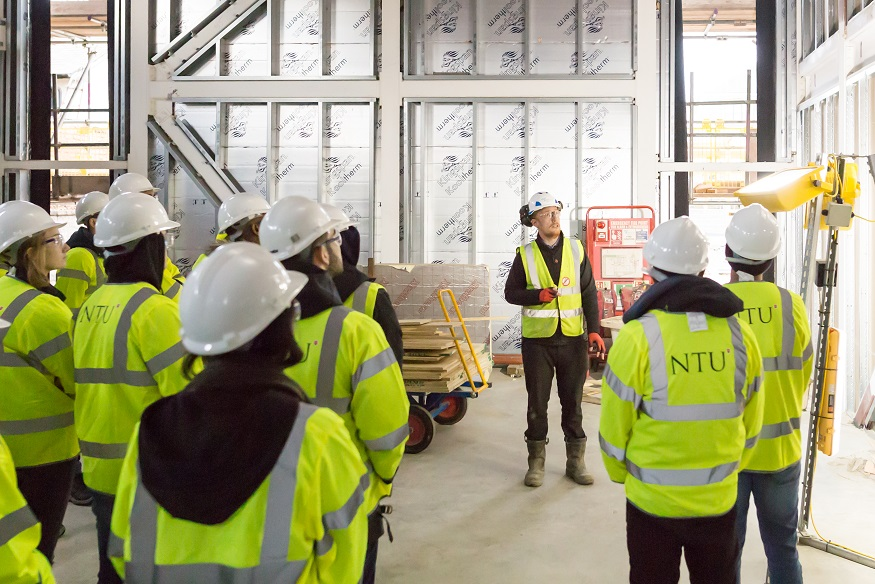 Students visit Nottingham High School site managed by Interserve