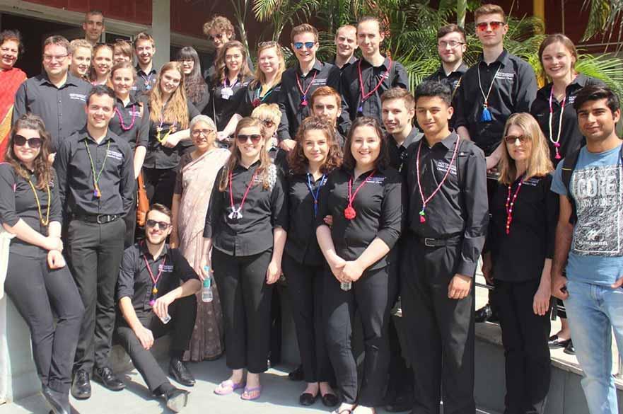NTU choir visit to India