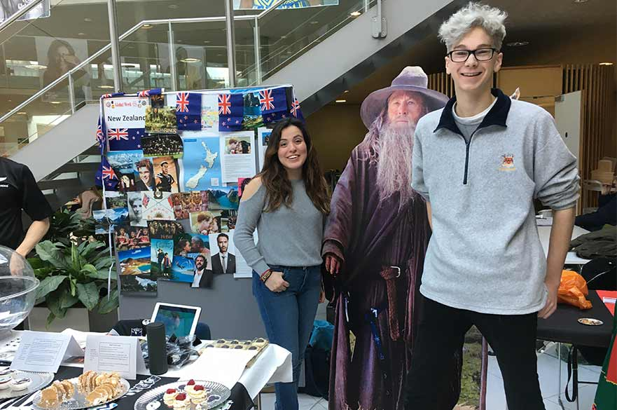 Art and Design students representing the New Zealand cultural stall