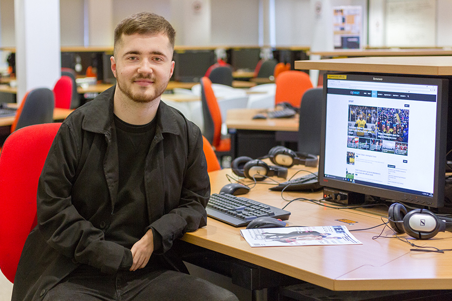 Journalism student Alex McKenzie
