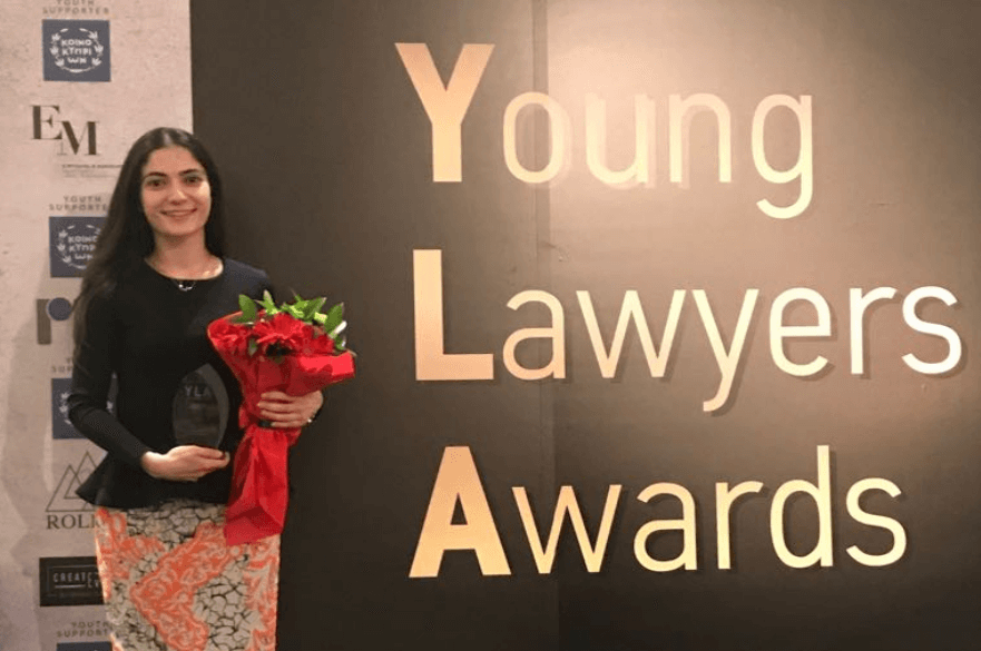 Stephanie Theodotou - Best Young Lawyer in the Public Sector - Best Young Lawyers Awards 2018