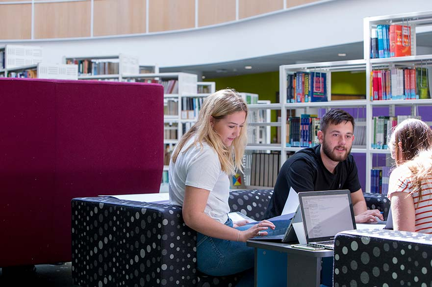 Students in Boots Library