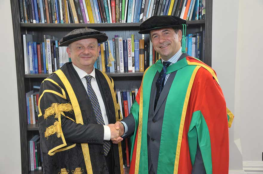 Juergen Maier received an honorary degree from NTU last year.