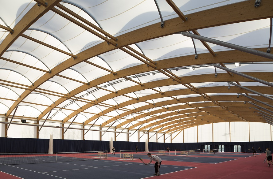 Inside shot of NTU tennis centre at Clifton Campus