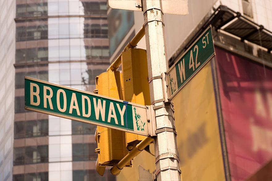 Broadway signpost.