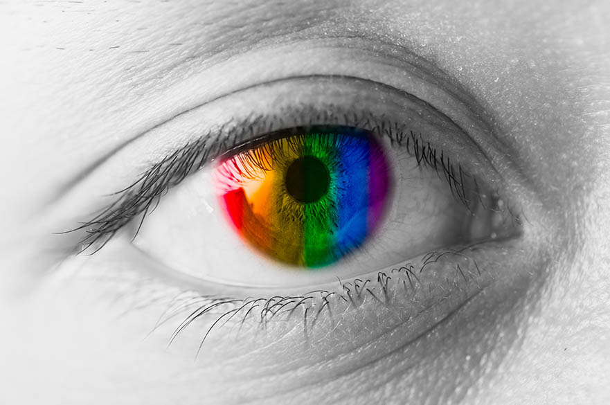 Eye with rainbow