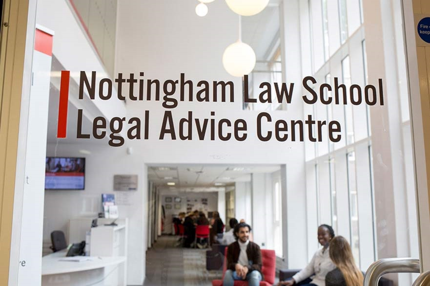 Door of the legal advice centre