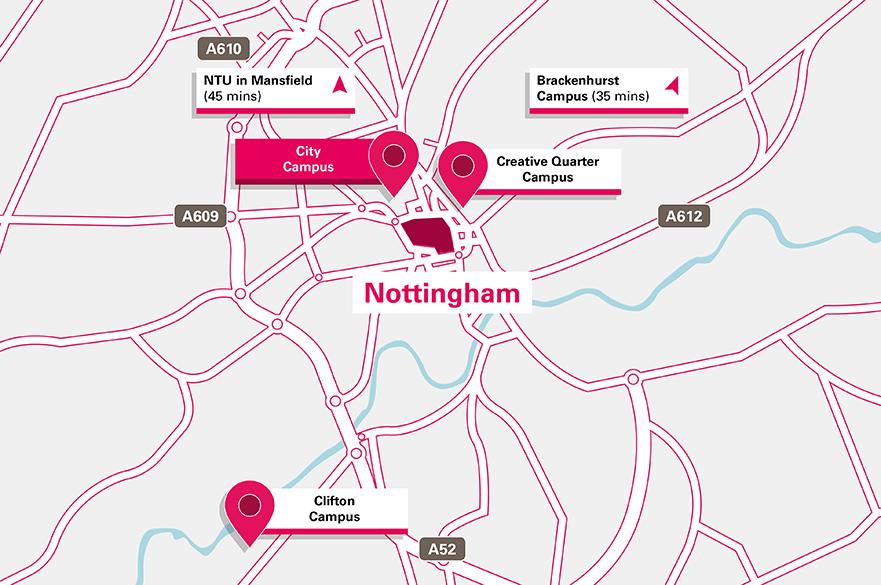 City Campus location map
