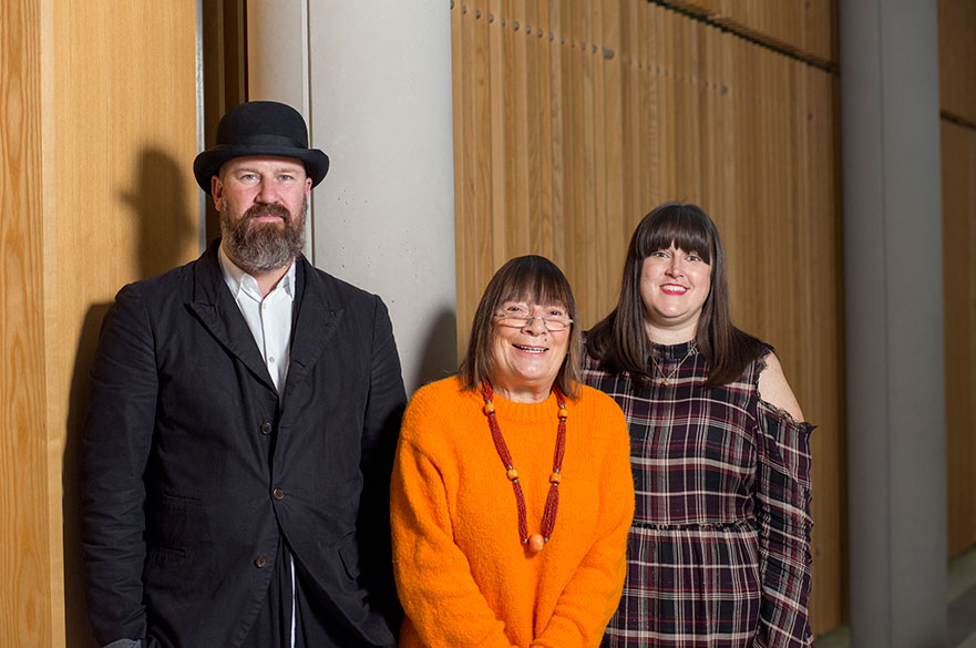 Martyn Roberts, Hilary Alexander and Nicola Hitchens