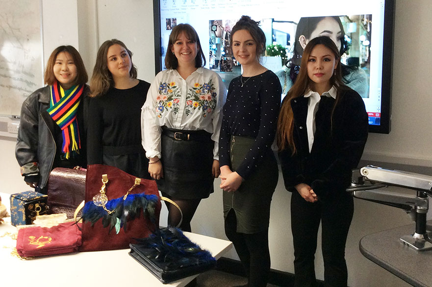 Fashion Accessory Design students at the River Island presentations