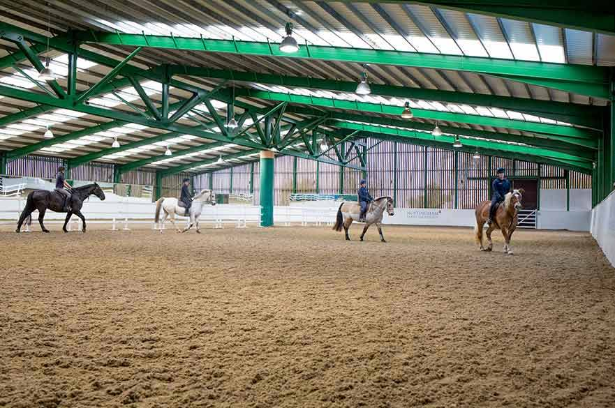 Equestrian Centre Mary King indoor arena