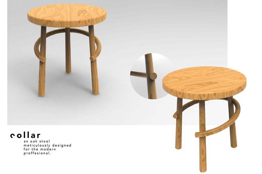 Stool design by Luke Foster and Bradley Goulding, BA (Hons) Product Design
