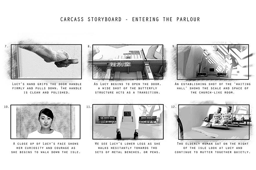 Carcass storyboard