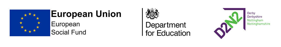 This support is funded by the ESF, Department for Education and D2N2 LEP