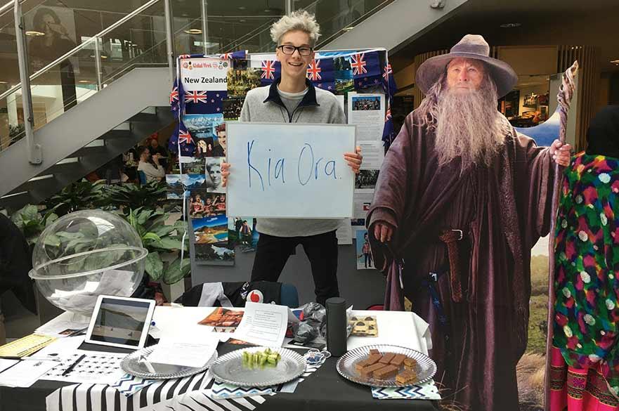 Kiwi exchange student, Jacob Paterson