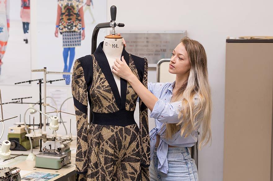 Freya Butler with her winning garment