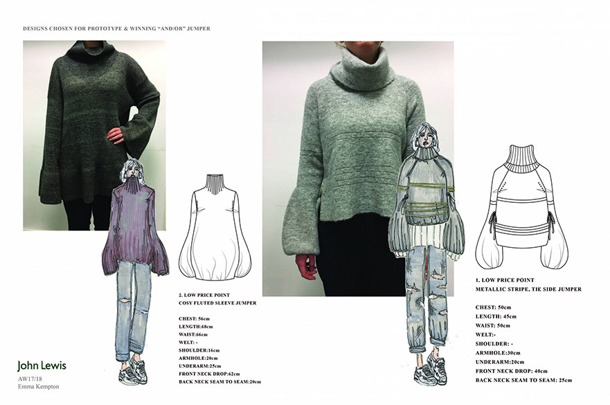 A recent live project resulted in knitwear student, Emma Kempton seeing her collection launched by John Lewis