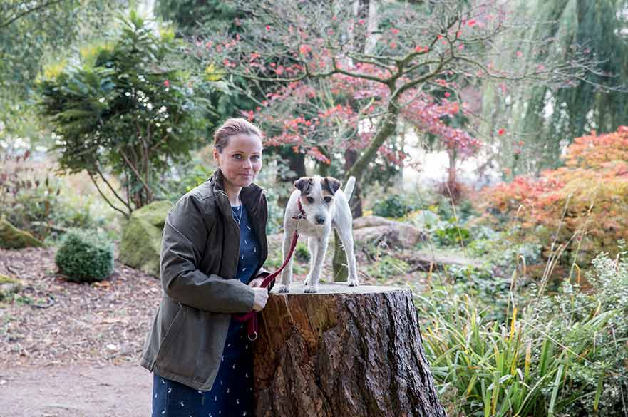 Sarah Broadberry with dog
