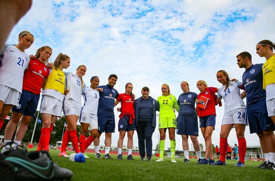 Women's football stock image