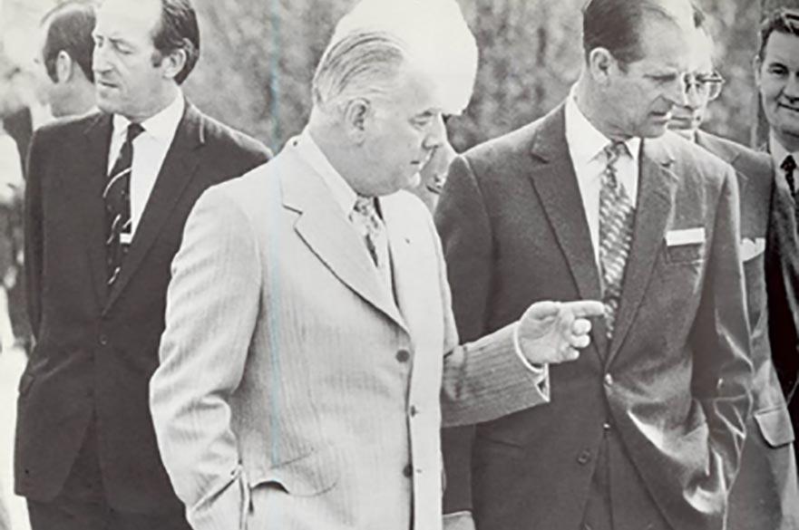 Len van Geest with the Duke of Edinburgh, Prince Philip