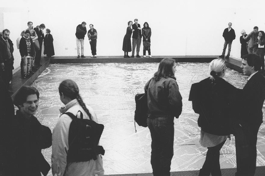 Opening night of John Newling, Lost, 1991. Image courtesy of John Newling and Bonington Gallery