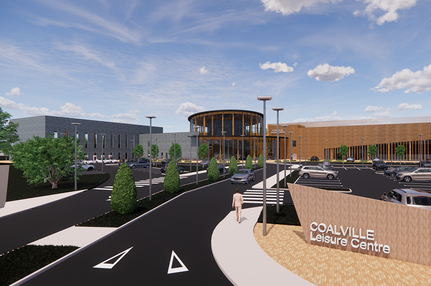 Coalville Leisure Centre by BSc (Hons) Architectural Technology student, Corey White.