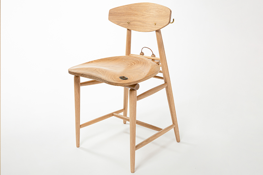 The Potters Chair by BA (Hons) Furniture and Product Design student, Darcy Hill
