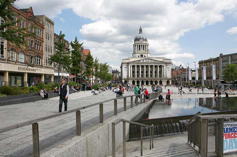 Market Square in Nottingham