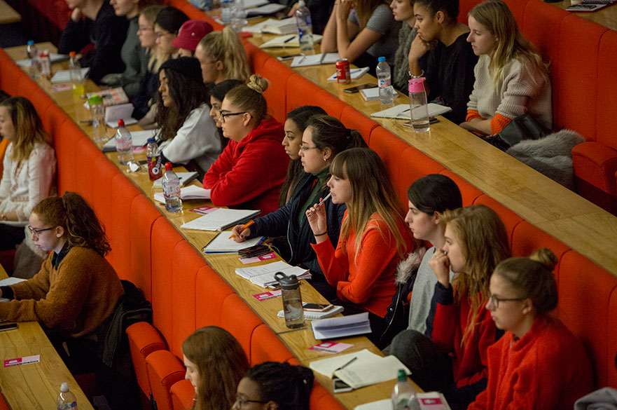 Fashion students in the audience for the GFW Masterclass