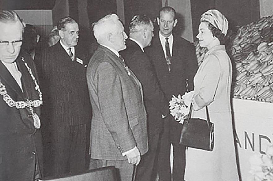 Len van Geest with Queen Elizabeth II