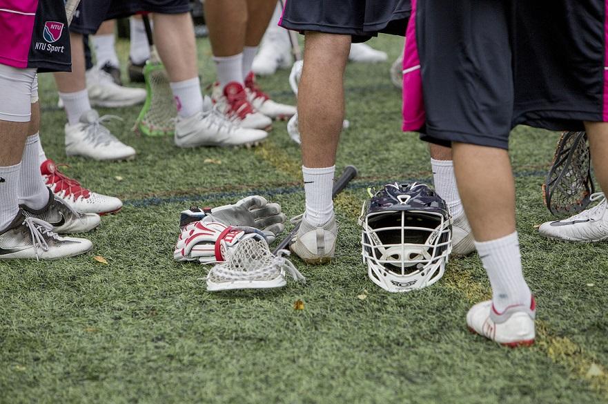 Lacrosse players equipment