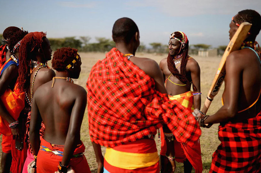 Cricket with Massai Warriors