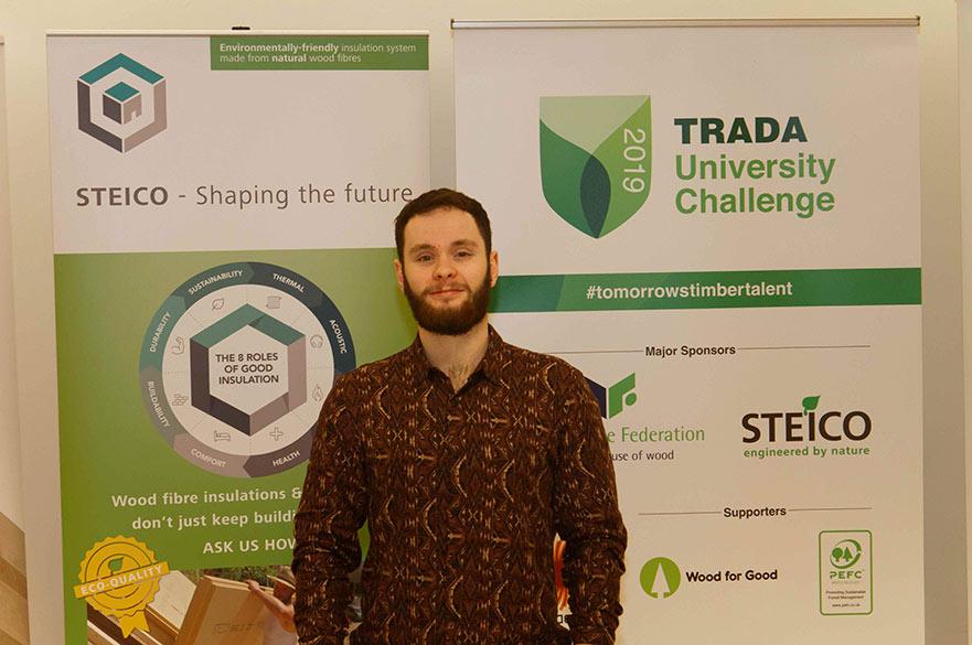 Joshua Broomhead, at the TRADA University Challenge