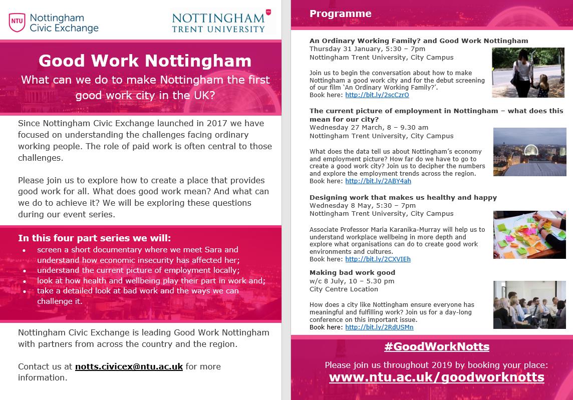 Good Work Nottingham Flyer