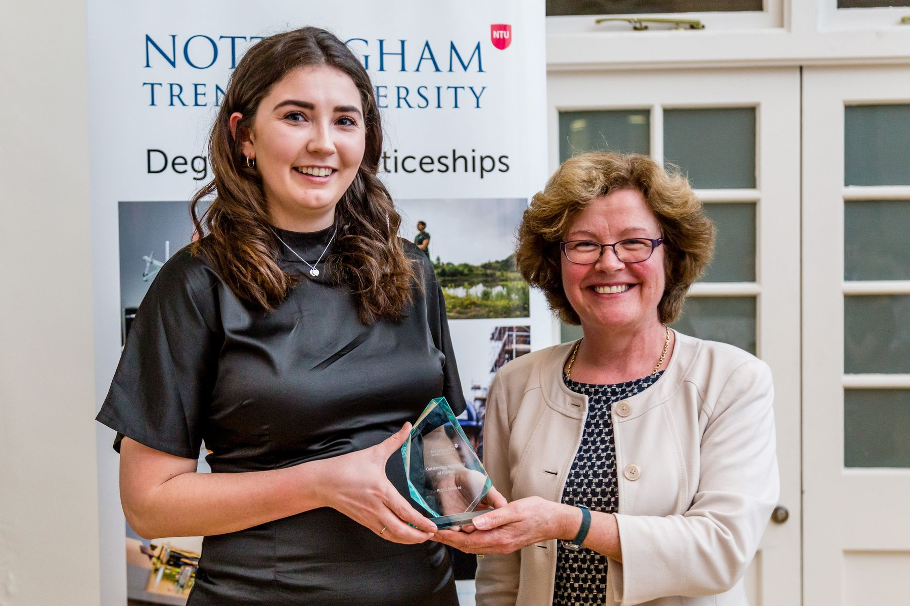 Apprentices collection award for outstanding apprentice of the year within public services