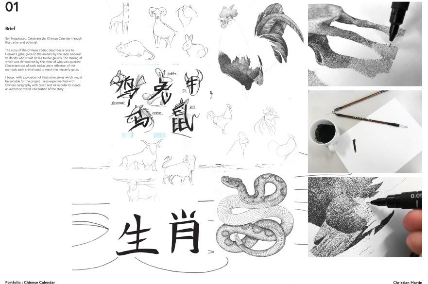 Christian Martin. Portfolio: Chinese Calendar