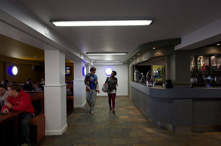 Two students walking at Clifton Students' Union