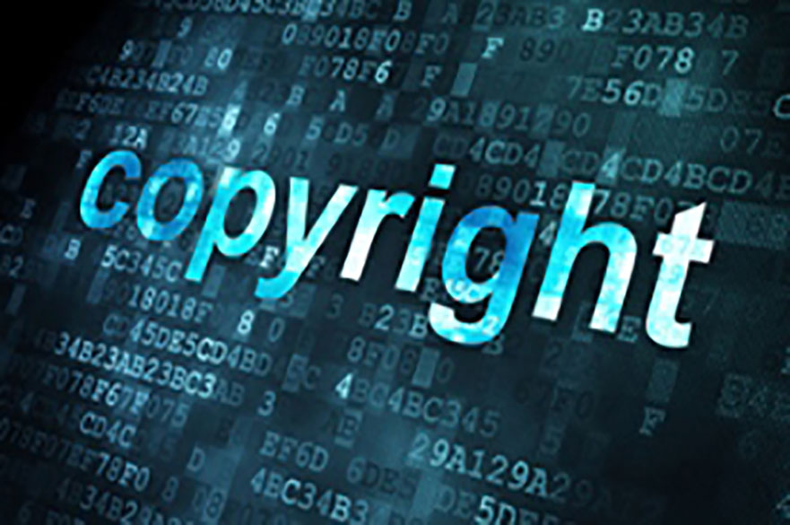 stylised text reading 'copyright'