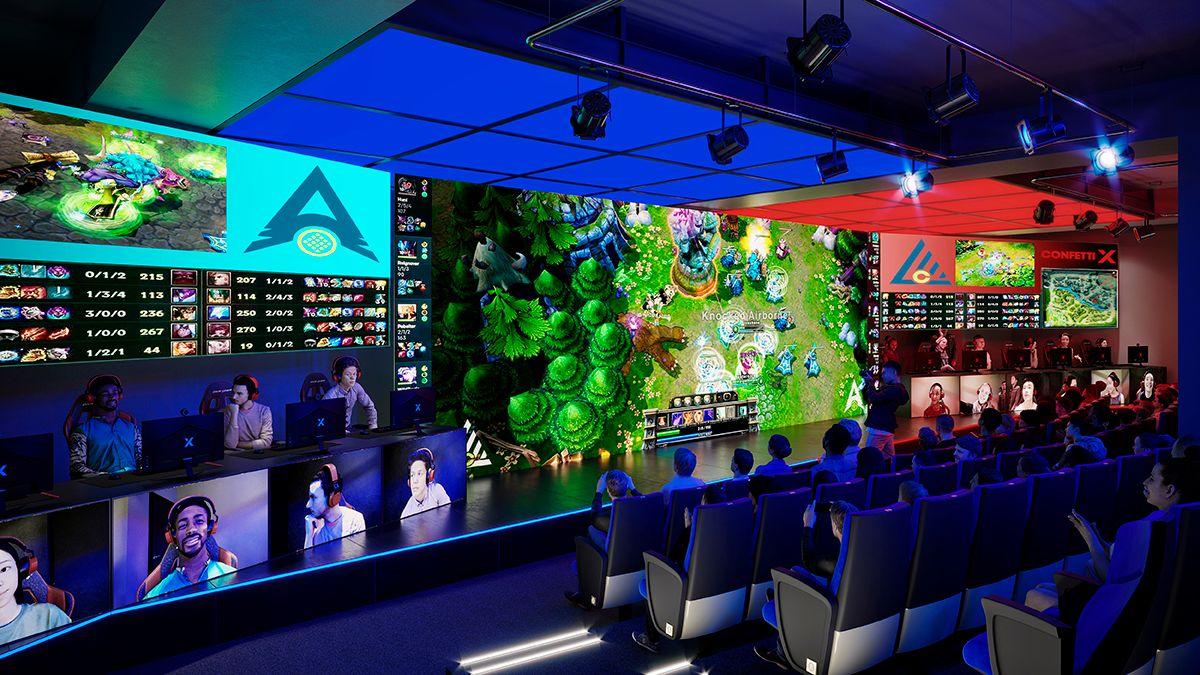 new esports centre at Confetti
