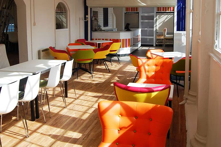 The cafe in the Brackenhurst Students' Union