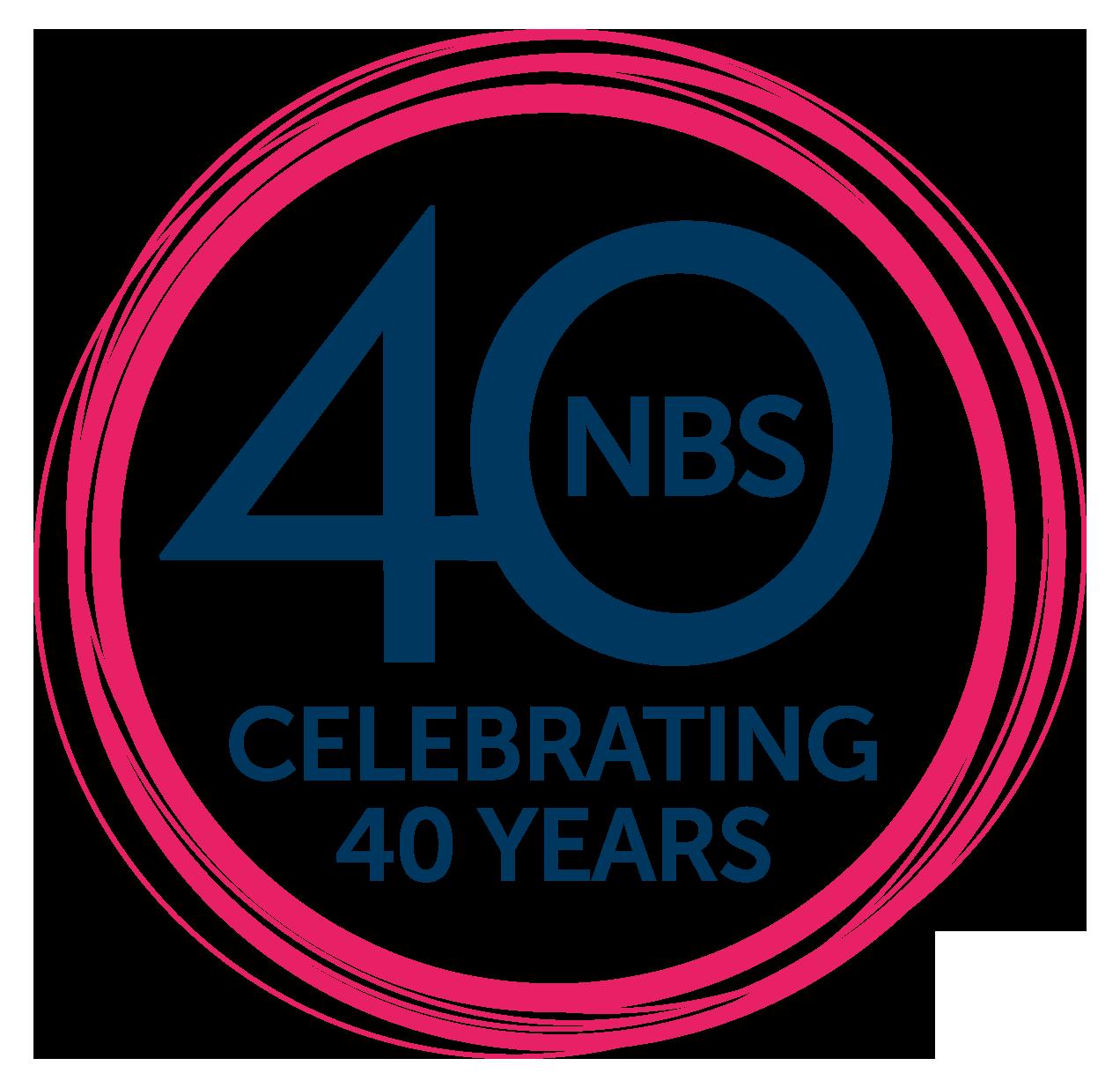 NBS 40 years logo