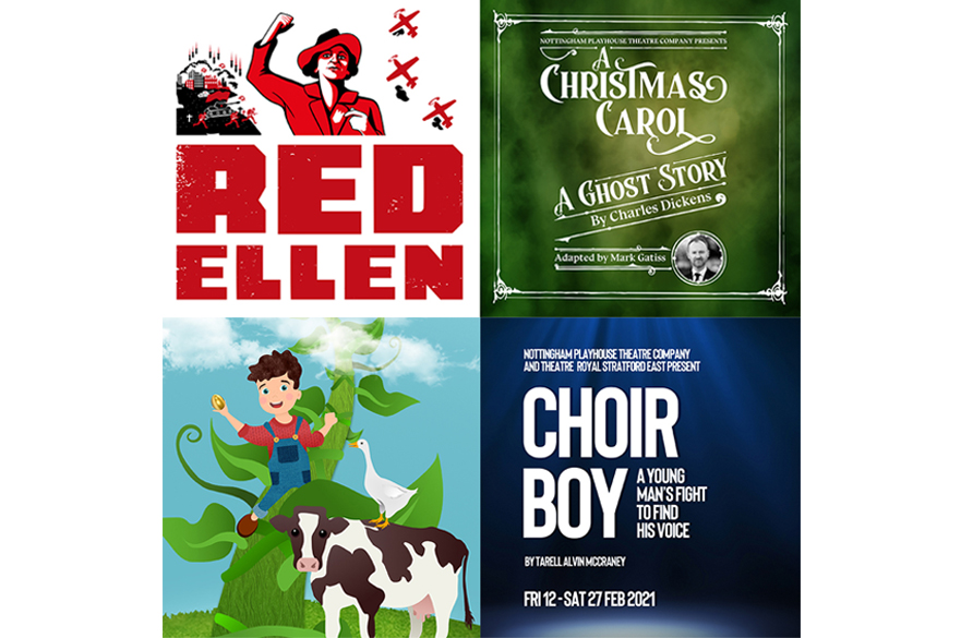 Four Nottingham Playhouse production posters
