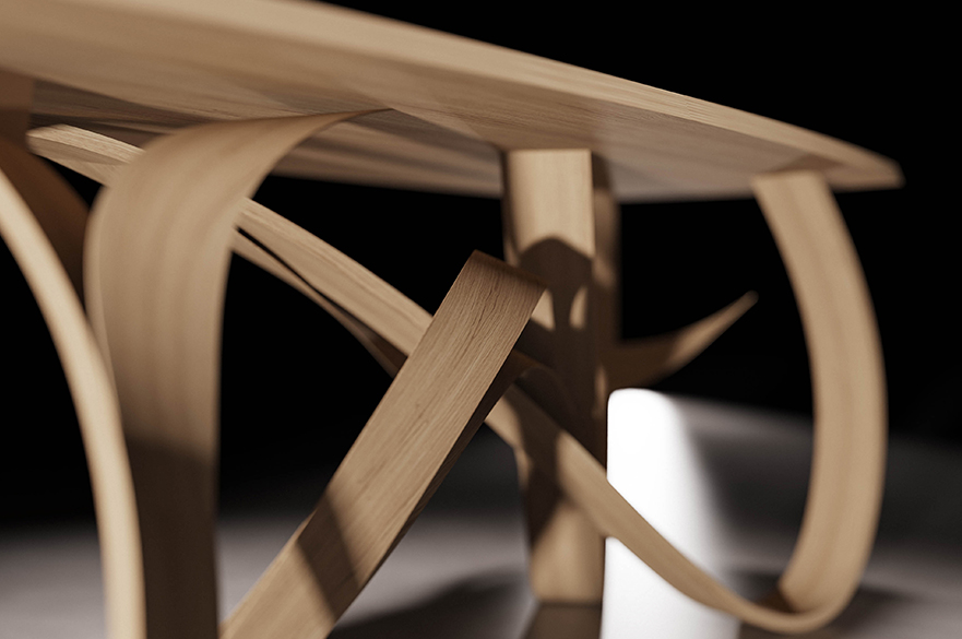 The Fraxinus table by BA (Hons) Furniture and Product Design student, Ralph Shuttleworth.